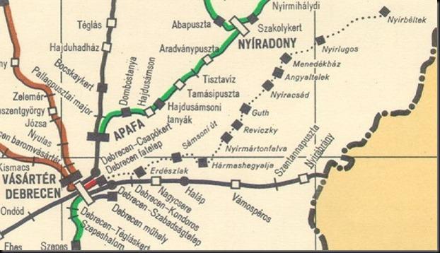 Régi Zsuzsi-vasút térképe