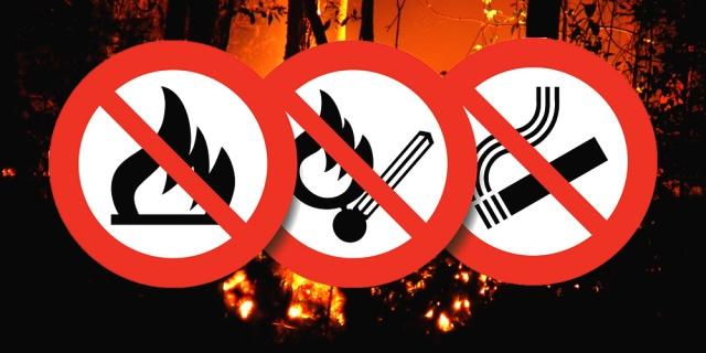 Tűzgyujtási tilalom.